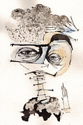 Self-portrait Mixed Media - Mark M. Mellon with glasses by Mark M  Mellon