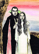 Horror Movies Drawings - Mark of the Vampire by Mel Thompson