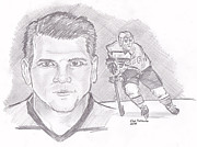 Flyers Hockey Drawings - Mark Recchi by Chris  DelVecchio