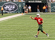 Qb Posters - Mark Sanchez NY Jets Quarterback Poster by Paul Ward