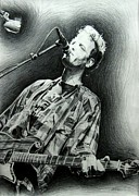 Rock N Roll Drawings Prints - Mark Sandman Print by Michael Morgan