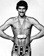 Olympian Photo Framed Prints - Mark Spitz (1950- ) Framed Print by Granger