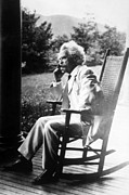 Samuel Framed Prints - Mark Twain Aka Samuel L. Clemens Framed Print by Everett