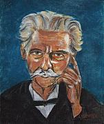 Faces Pastels - Mark Twain by Arline Wagner