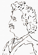 Huckleberry Drawings Posters - Mark Twain Poster by Day Williams