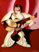 Elvis Painting Prints - Mark Webster - Its Good to be the King Print by Mark Webster