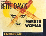 Lobbycard Framed Prints - Marked Woman, Bette Davis, 1937 Framed Print by Everett