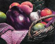 Peach Originals - Market Basket 14 by Sandy Applegate