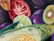 Kiwi Painting Originals - Market Basket 8 by Sandy Applegate