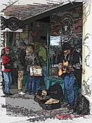 Pike Digital Art Posters - Market Busker 3 Poster by Tim Allen