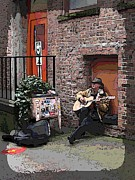 Dark Grey Posters - Market Busker 4 Poster by Tim Allen