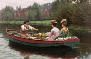 Calm Waters Posters - Market Day Poster by Edmund Blair Leighton
