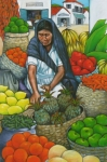 Fruits And Vegetables Framed Prints - Market Day Framed Print by Lorraine Klotz