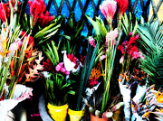 Market Digital Art Originals - Market flowers by Joe Carini