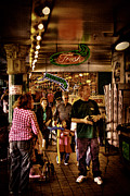 Shoppers Framed Prints - Market Fresh at Pike Place Market Framed Print by David Patterson