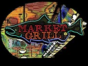Grill Digital Art Metal Prints - Market Grill 2 Metal Print by Tim Allen