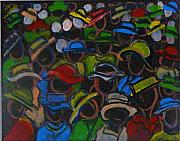 Chapeaux Paintings - Market in Sint Maarten by Patty Meotti