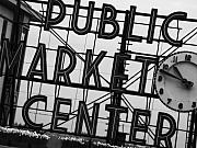 Seattle Prints - Market Print by John Gusky