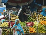 Market Of Djibuti-2 Print by Jenny Senra Pampin