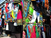 Jenny Senra Pampin Prints - Market of djibuti with more colors Print by Jenny Senra Pampin