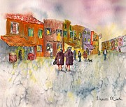 Water Art - Market Place in Borano by Sharon Mick