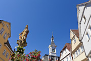 Town Square Prints - Market Square In Aalen, Germany Print by Werner Dieterich