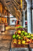 Market Stalls Print by Dan Stone