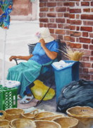 Skill Paintings - Market Street Blues by Shirley Braithwaite Hunt