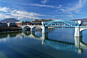 Chattanooga Tennessee Photos - Market Street Bridge  by Tom and Pat Cory
