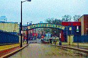 Philadelphia Digital Art Prints - Market Street From Penns Landing Philadelphia Print by Bill Cannon