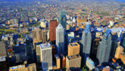 Commercial Real Estate Aerial Photographs - Market West Center City Philadelphia Pennsylvania 19103 by Duncan Pearson