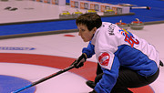 Champions Prints - Marla Mallett at the 2009 Scotties Print by Lawrence Christopher