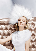 Ev-in Metal Prints - Marlene Dietrich, Ca. 1930s Metal Print by Everett