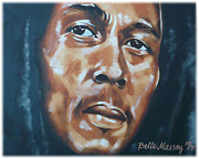 Rastafarian Paintings - Marley by Belle Massey