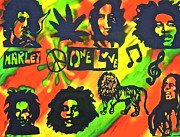 Free Speech Paintings - Marley Forever by Tony B Conscious