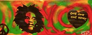 First Amendment Paintings - Marley Love by Tony B Conscious