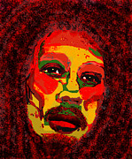 Funk Digital Art Prints - Marley Print by Peri Craig