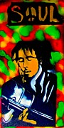 Free Speech Paintings - Marley Rasta Guitar by Tony B Conscious
