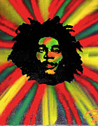 First Amendment Paintings - Marley Starburst by Tony B Conscious