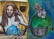 Hiphop Paintings - Marley To Hiphop by Ernest Black