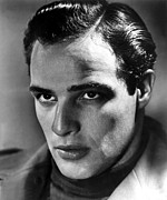 1950s Portraits Prints - Marlon Brando, 1950s Print by Everett