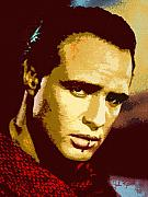 Keaton Digital Art - Marlon Brando  2 by John Keaton