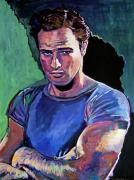 Movie Star Paintings - Marlon Brando by David Lloyd Glover