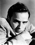 1950s Portraits Art - Marlon Brando, Early 1950s by Everett