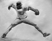 Baseball Art Drawings - Marmol by Adam Barone