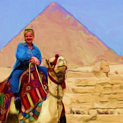 Camel Digital Art Originals - Marnie in Egypt by Marnie Hutcheson