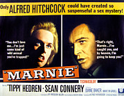 Tippi Framed Prints - Marnie, Tippi Hedren, Sean Connery, 1964 Framed Print by Everett