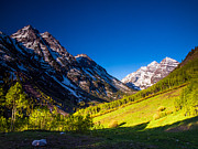 14000 Feet Prints - Maroon Bells Rare View Print by Paul Gana