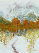 Autumn Painting Originals - Maroon Bells-Snowmass Wilderness Trek by Mary Giacomini