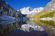 Reflect Prints - Maroon Lake and Bells 1 Print by Ron Dahlquist - Printscapes